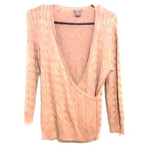 Ann Taylor gold cable knit sweater.